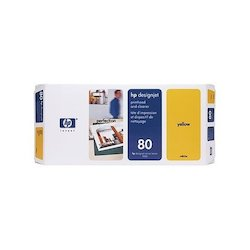 HP 80 Printhead+Cleaner Yellow