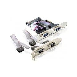 DeLock Serieel 4-Poort PCIe...