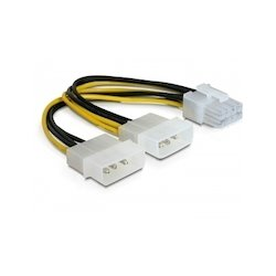 DeLock 2x Molex to PCIe 8pin