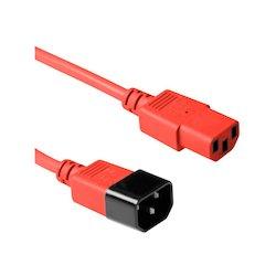 ACT 230V kabel C13-C14 rood...