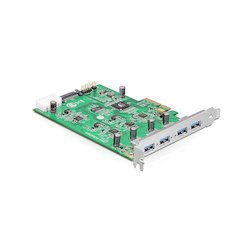 DeLock USB3.0 4-poort PCIe/x4