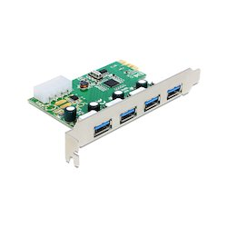 DeLock USB3.0 4-poort PCIe